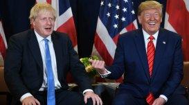 Boris Johnson and Donald Trump summit photo shoot