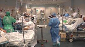 Hospital in Bergamo, Italy, Sky News