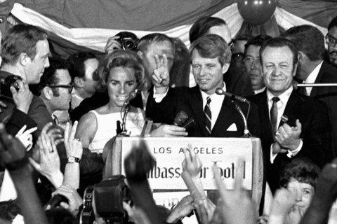 Robert F Kennedy, at the Ambassador Hotel